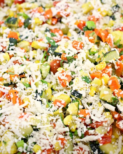 Roasted Mixed Vegetables with Cotija Cheese -MIY With Melissa