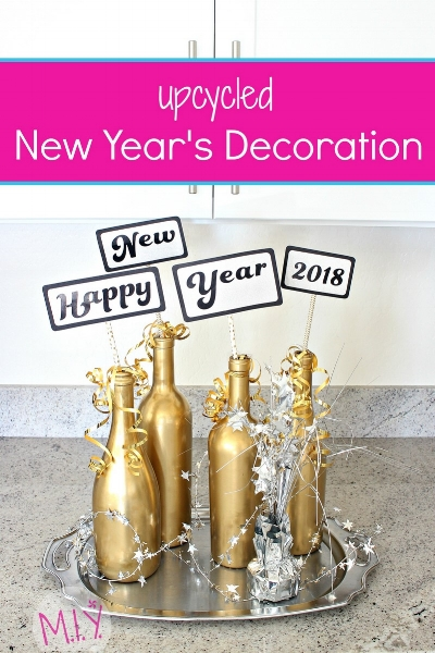 DIY New Year's Eve Upcycled Table Decor -MIY with Melissa