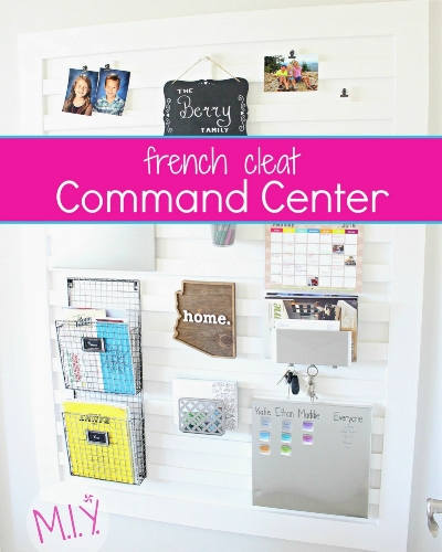 French Cleat Command Center -MIY with Melissa