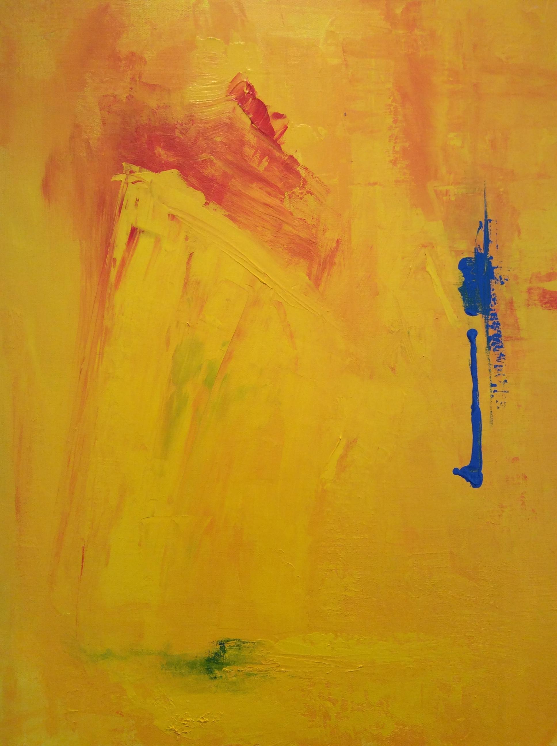 """Summer Sun Abstract - 24"""" x 30"""" Acrylic on Canvas"""