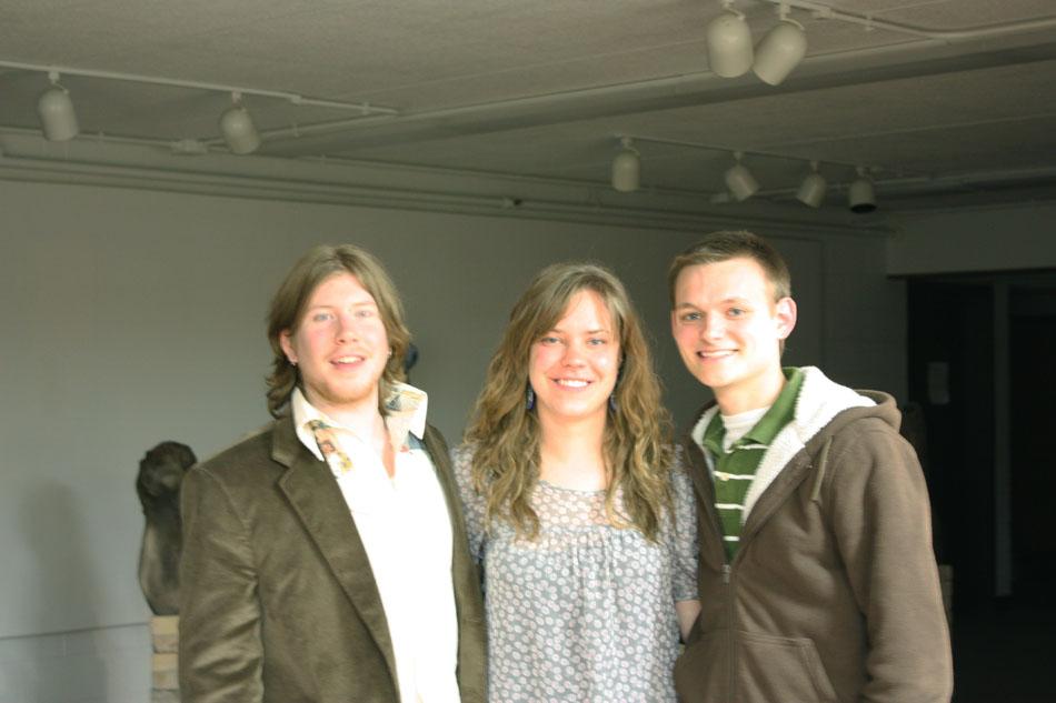 Adam Filarski, Maggie Yocius, and I