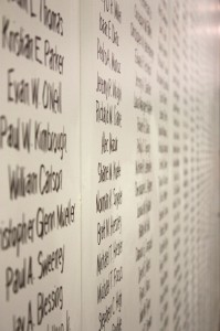 Names on the wall