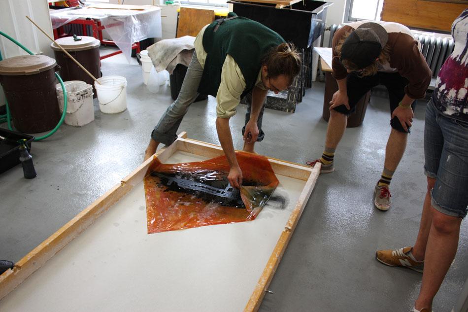 Peeling back paper screen