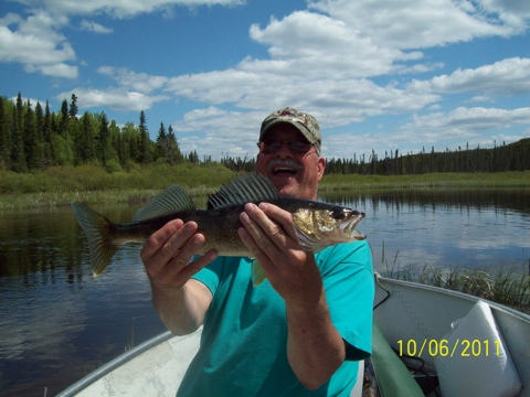 Tom Demory with walleye