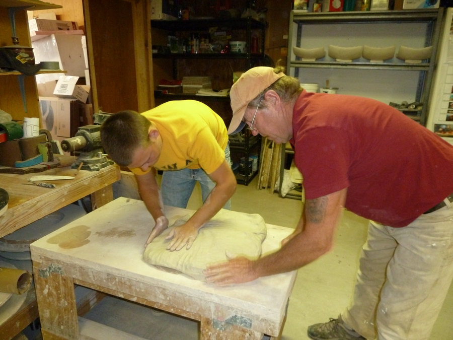 Prepping the slab