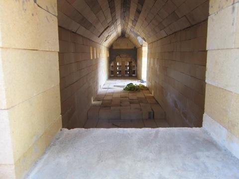 NAU Switchback Kiln Anagama Side looking into kiln