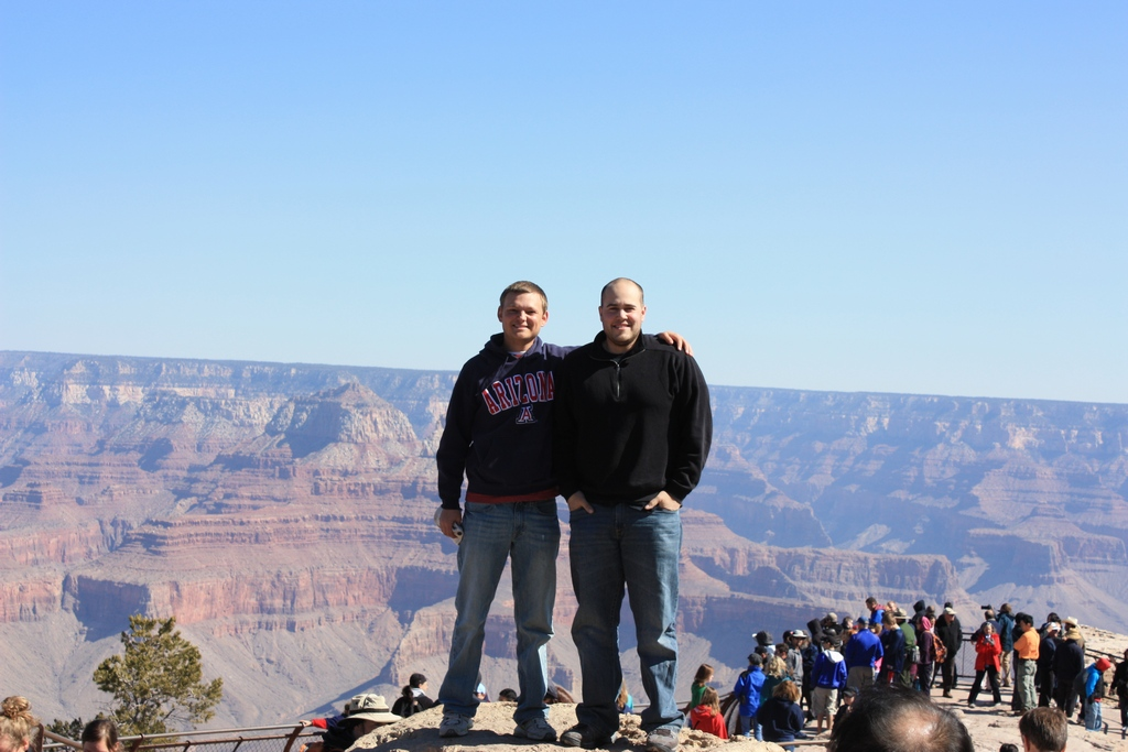 Abe and I Grand Canyon South Rim 2012