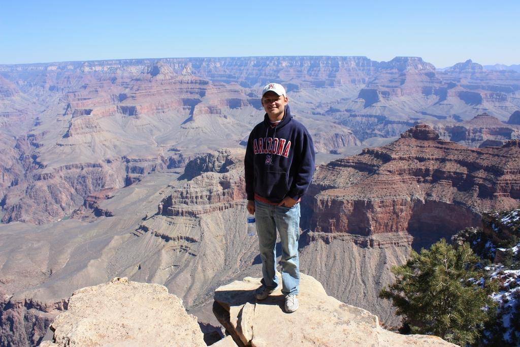 Ben Roti at the Grand Canyon South Rim 2012