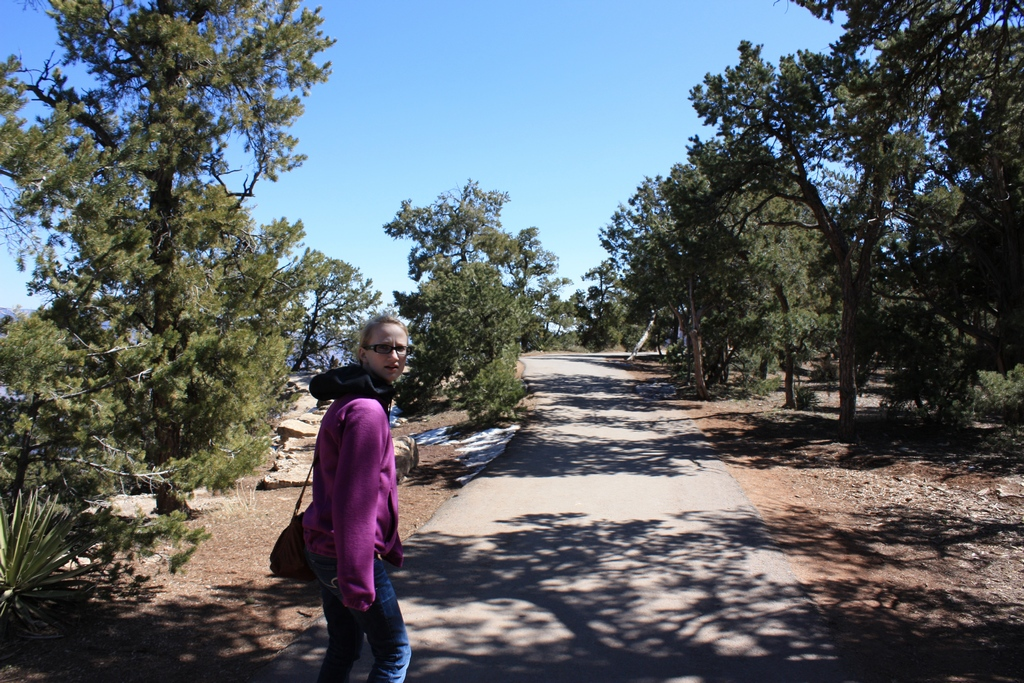 Jessica on the trails at the Grand Canyon South Rim 2012