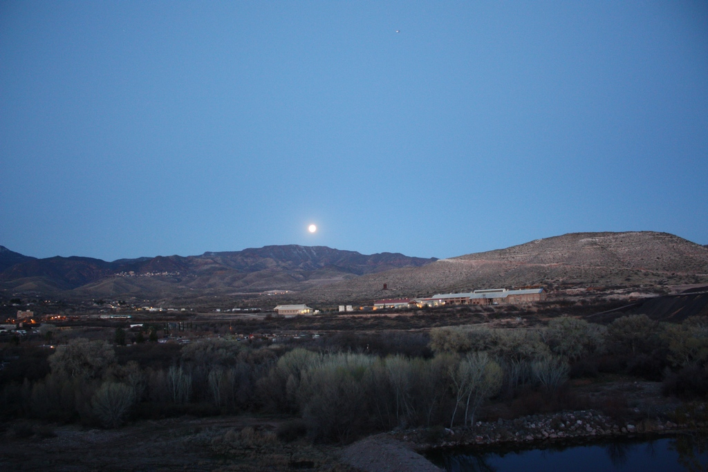 Moon and the old Train Depot