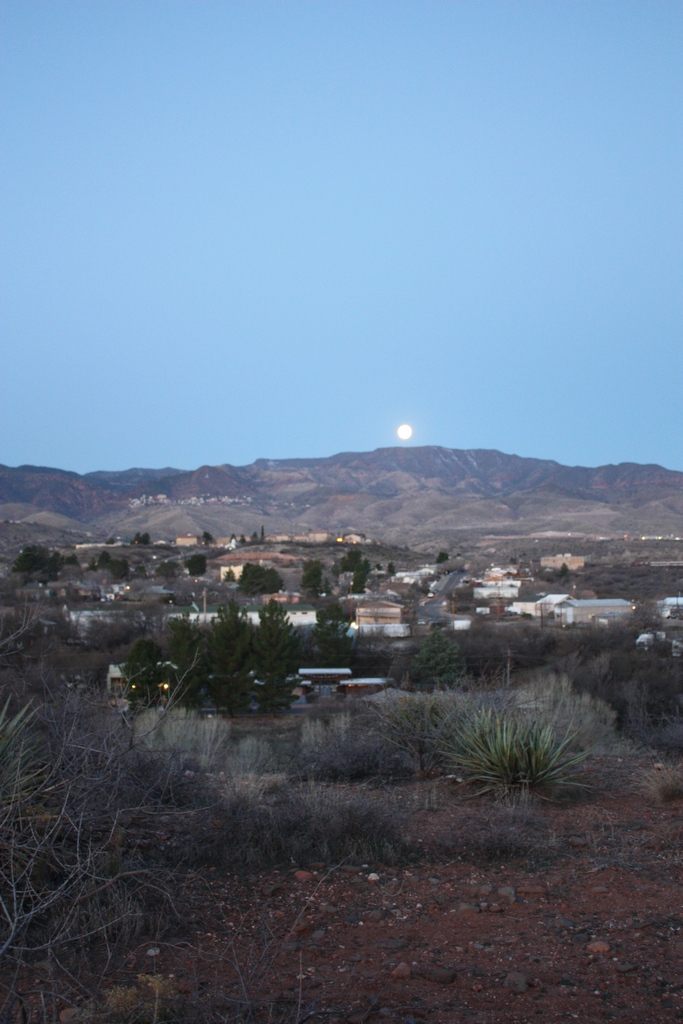 March 2012 Moon setting