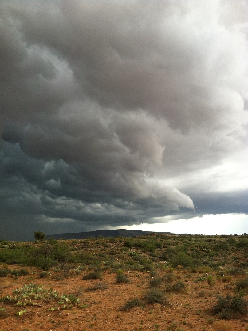 Front moving over Sycamore Canyon