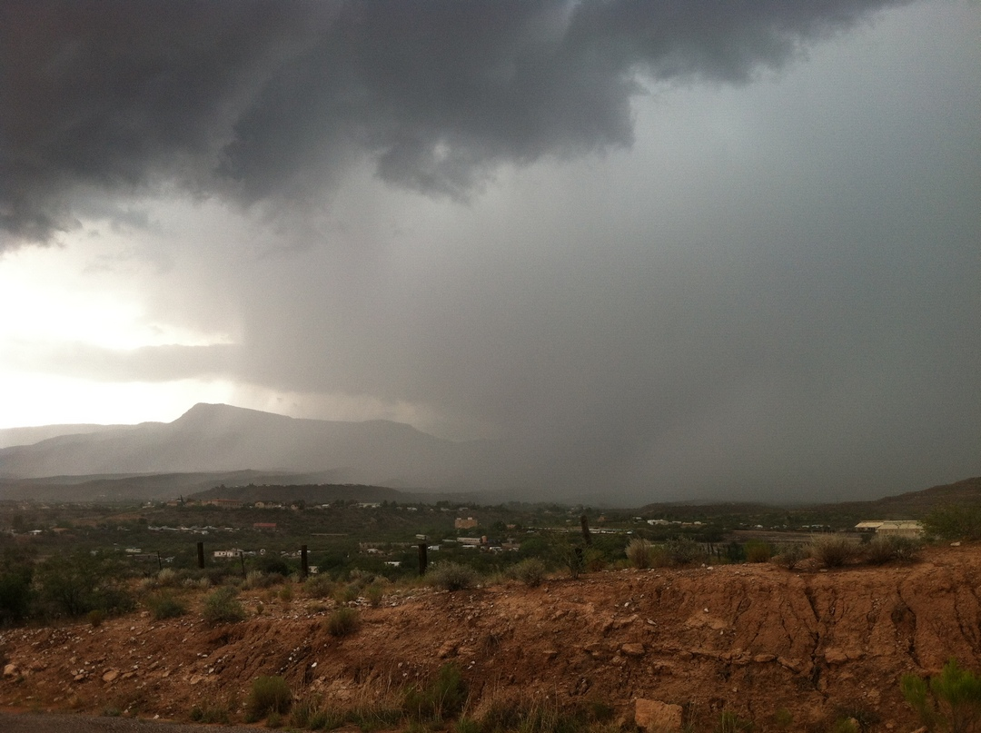 Heavy Rainfall over Mingus Mountain