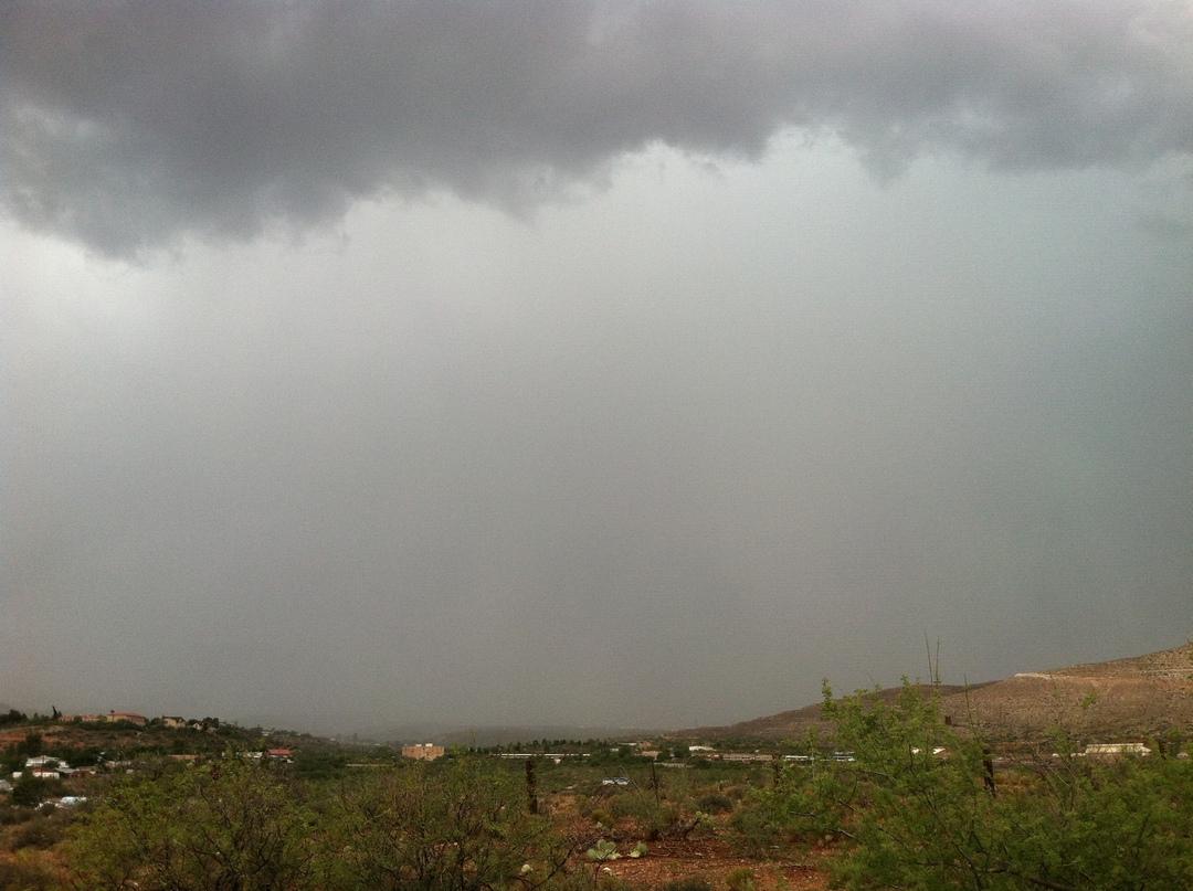Wall of rain over Clarkdale, AZ