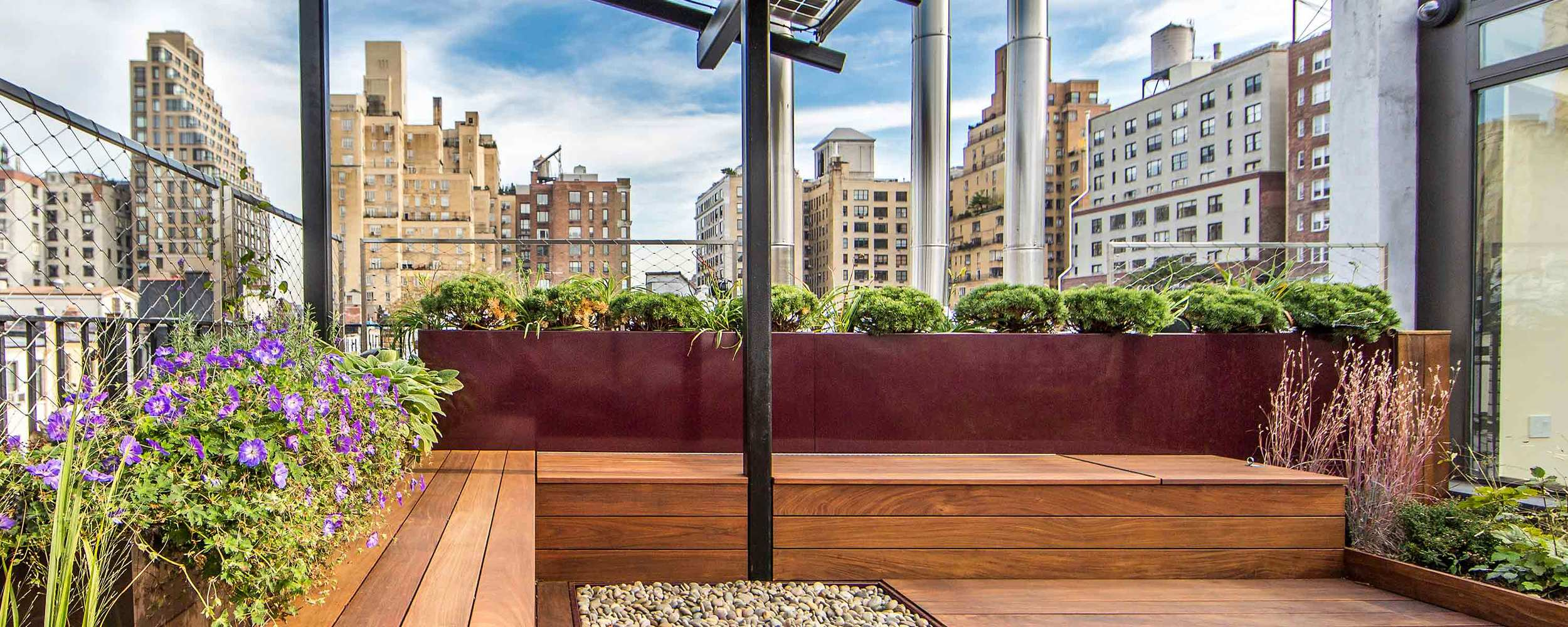 Upper West Side Terrace Nina Kramer The Standard Planter Powder Coated Aluminum