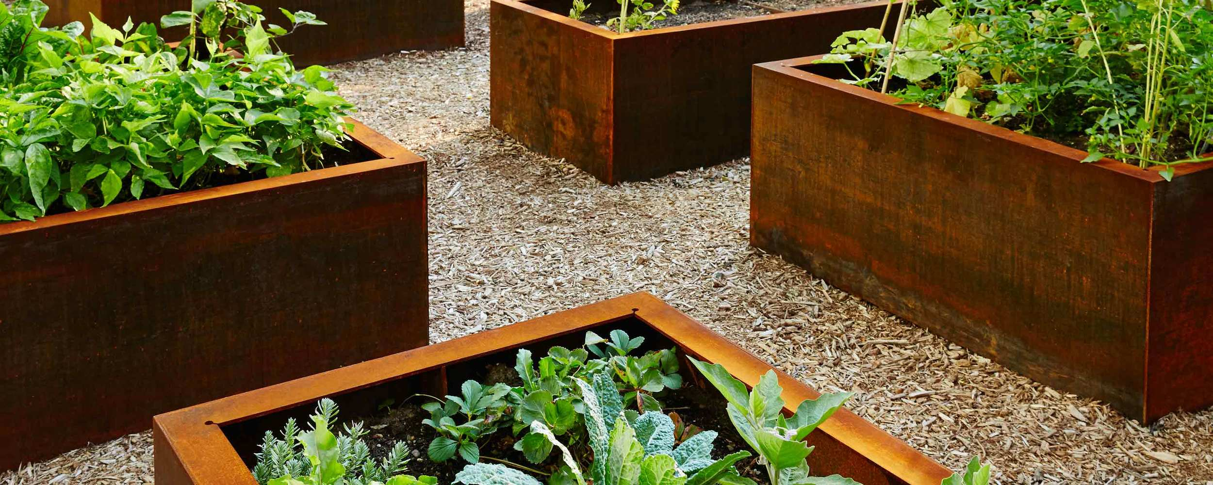 United Nations Architecture Making Studio Planting Bed System Corten Steel