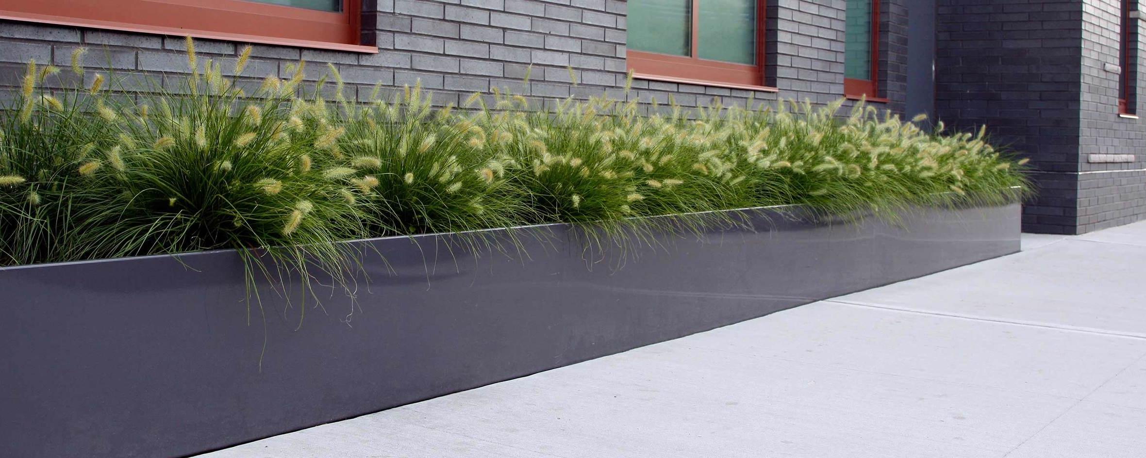 Brooklyn Condo RBA Group Planting Bed System Powder Coated Aluminum
