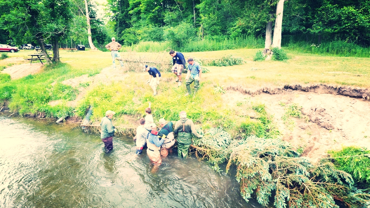 Streambank Erosion Restoration Efforts - RRRC assists w/ erosion control, working with various organizations and property owners to identify erosion areas and develop and execute a plan to control it.