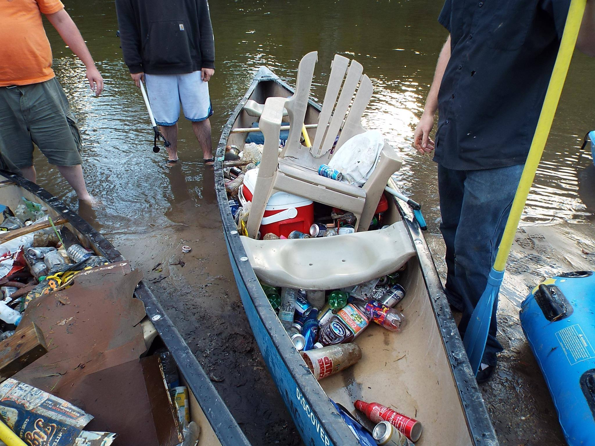 Trash pulled from the Rifle River