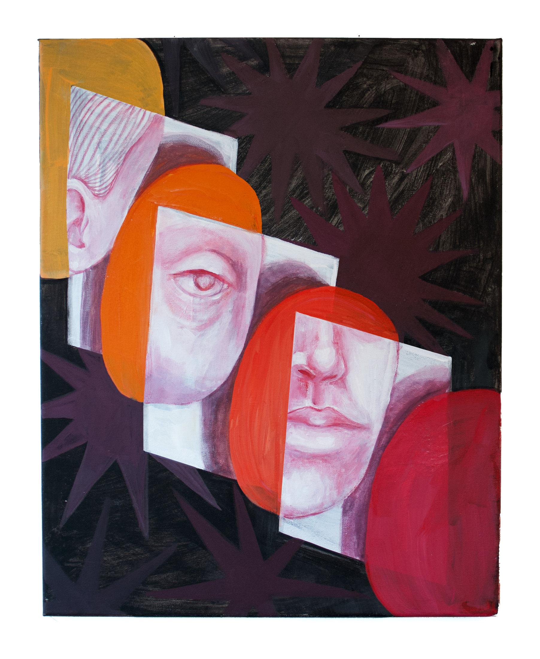 """The Identity Shift"" Acrylic on Canvas. 18""x24"". 2018."
