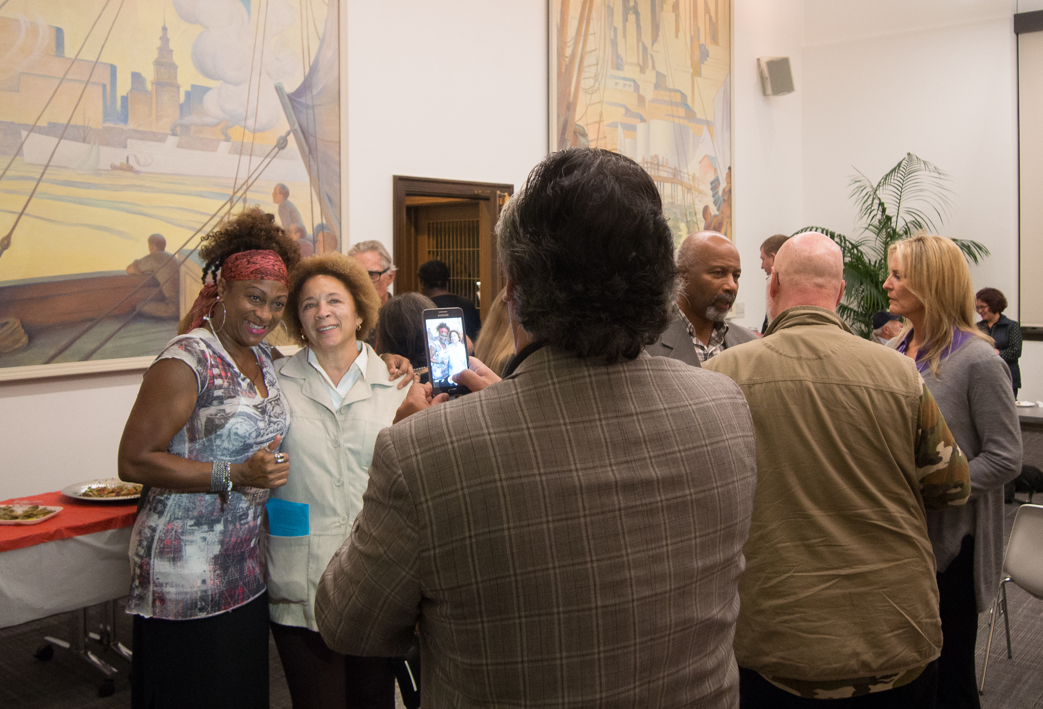 Guests at SFVFF Reception at SFAC Main Gallery