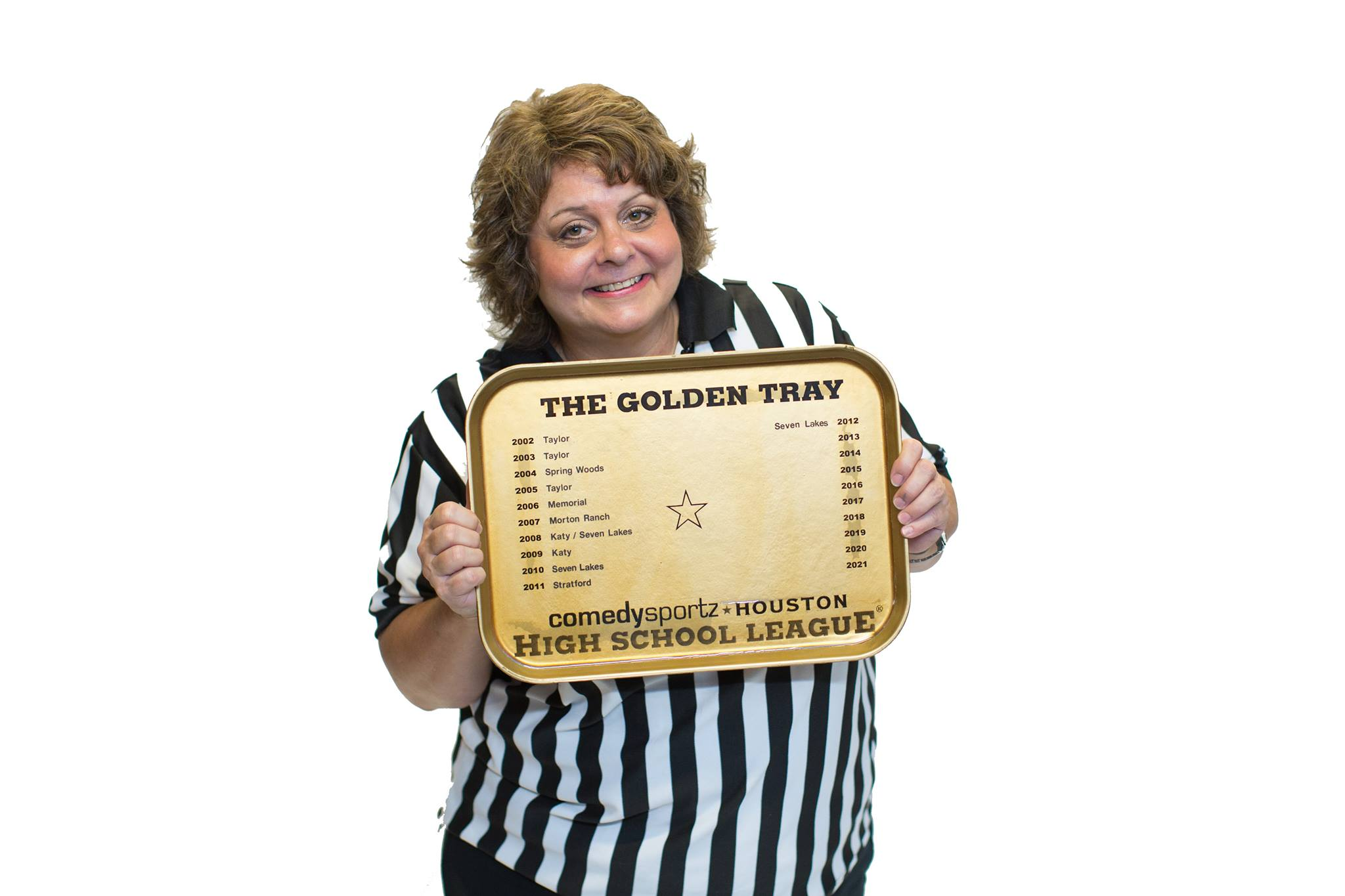 Golden Cafeteria Tray
