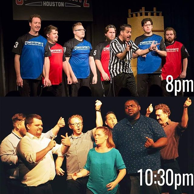 😂😂😂 Tonight, we're happy to have two hit improv comedy shows for our fans! ComedySportz - Houston's Longest Running Show! at 8 and Improv! the Musical at 10:30! Come to the first show, and stay for the second for half off your ticket! 😂😂😂 . . #Thingstodoinhouston #365houston #BYOBHouston