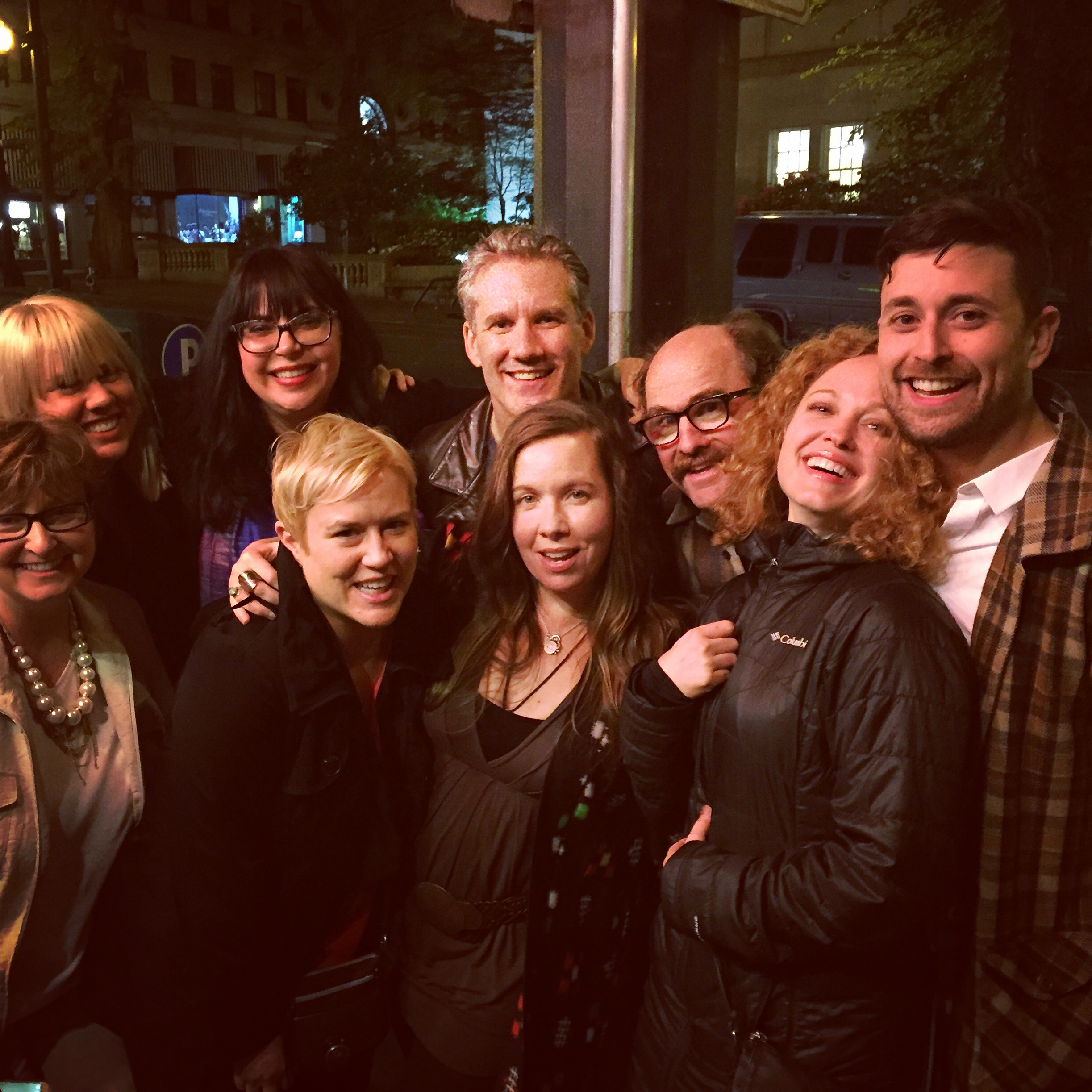 Ok, maybe we're a little tipsy - cast and crew celebrating post screening/premiere at the Virginal Cafe in Portland Oregon!