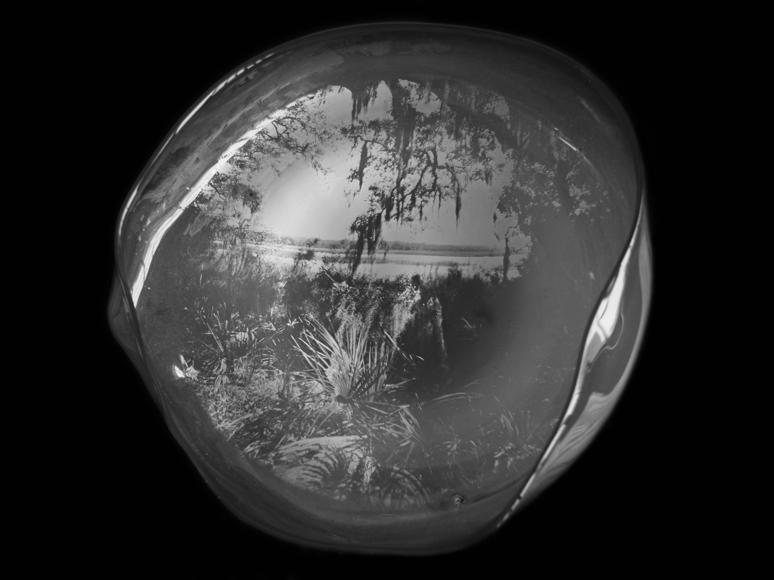 NEGATIVE AMBROTYPE - SEMI-TRANSPARENT JADE HANDBLOWN GLASS
