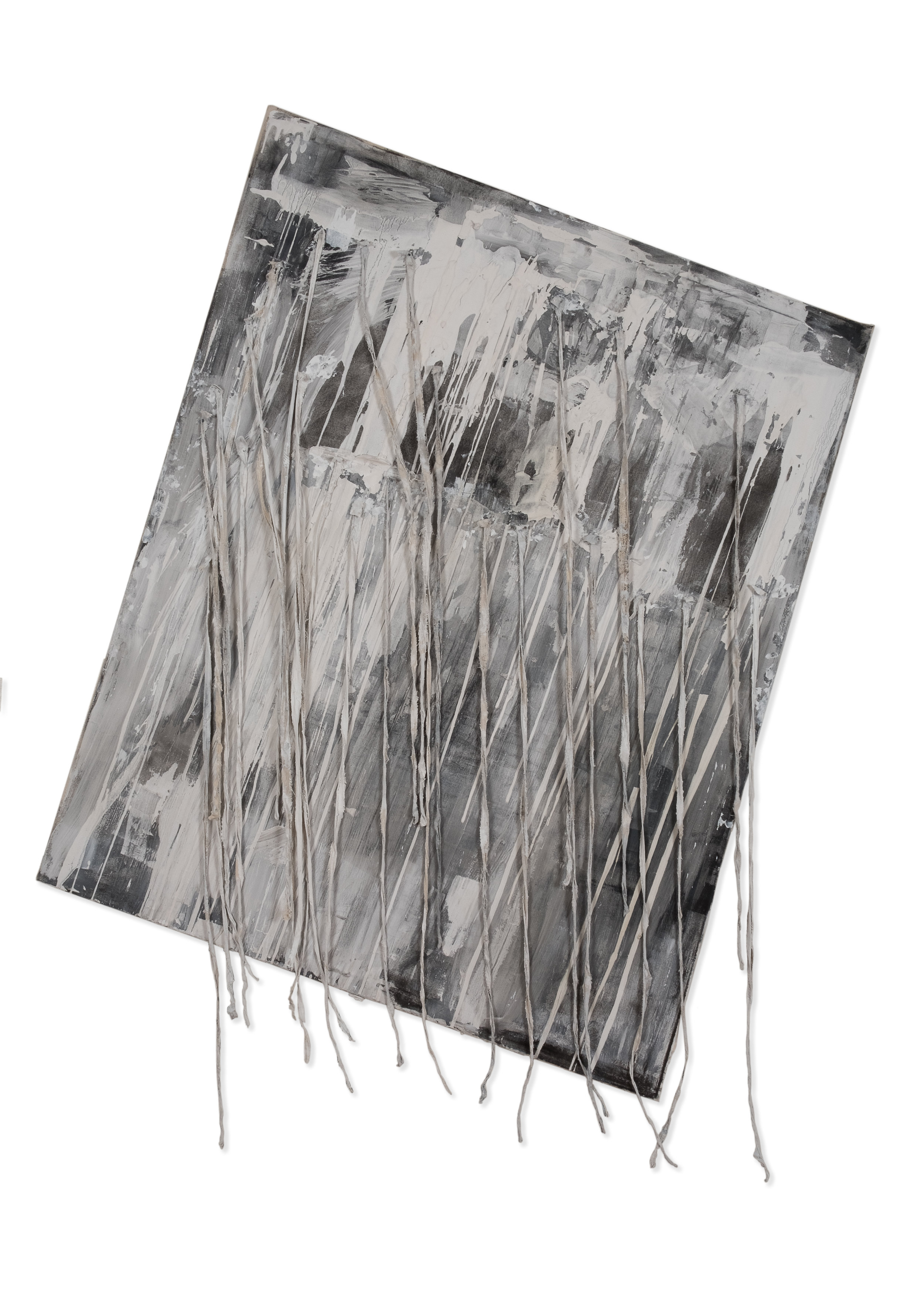 """60""""x48"""" plaster, ink, oil, reclaimed nails, acrylic on canvas."""