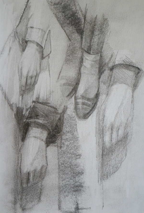 Study of hands and feet