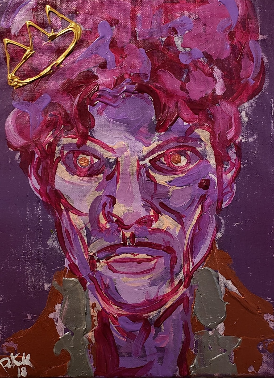 Prince / 24 x 18 / Acrylic / Spray Paint / Marker / 2018.