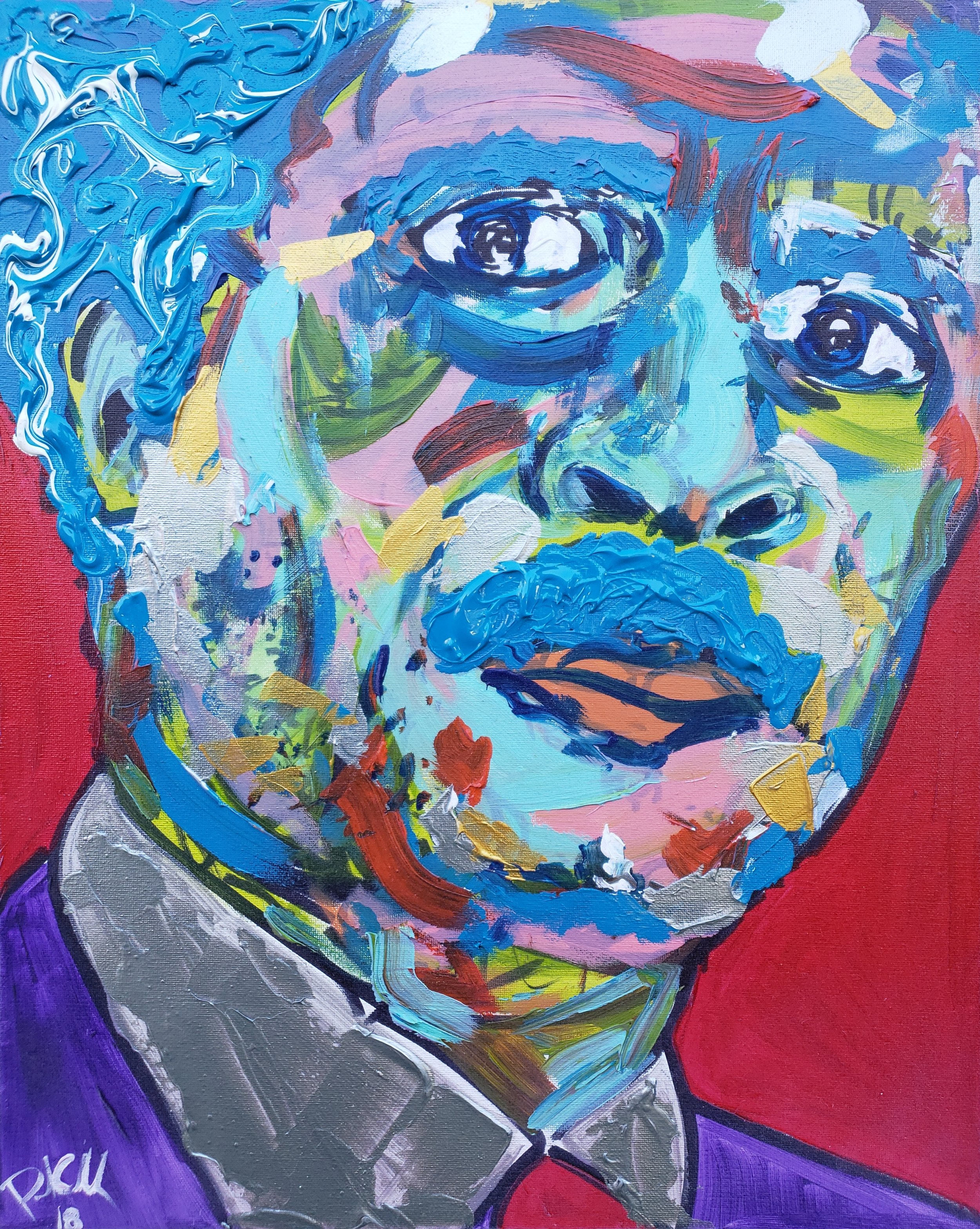 Mr. Pryor / 20 x 16 / Acrylic / Spray Paint / Marker / 2018.