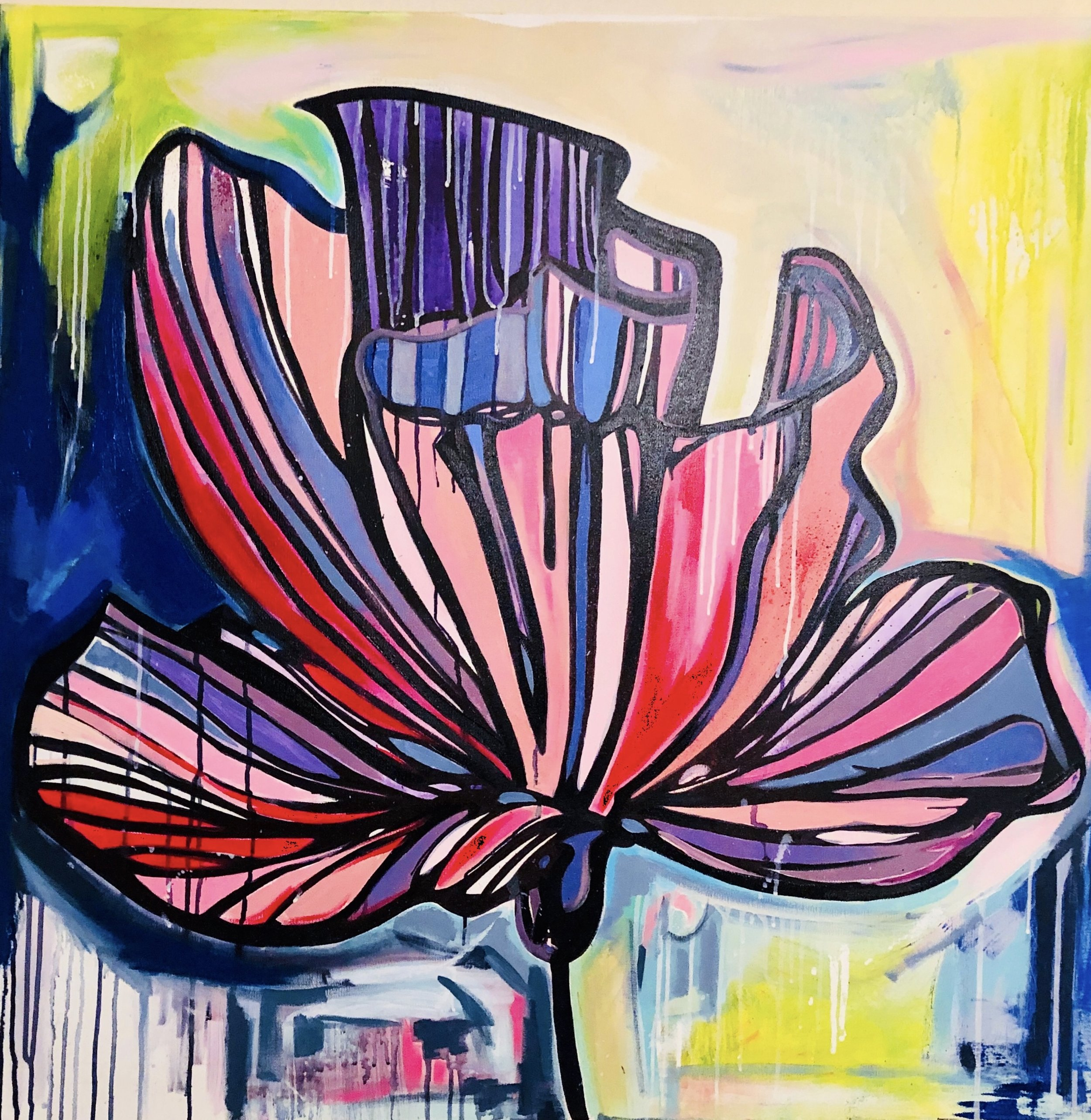 Flower of Love /  40 x 40 / Mixed Media / 2018