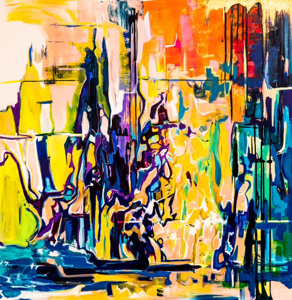 City of Dreams /  48 x 48 / Acrylic / 2017