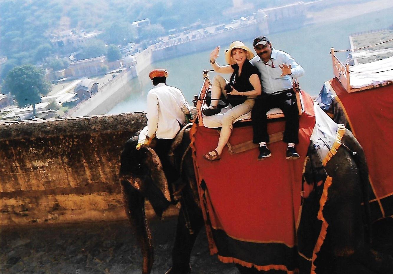 Elephant ride Amer Fort Jaipur.jpg