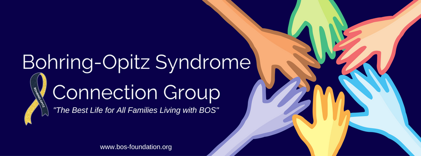 The BOS Connection group was created for knowledge, collaboration, medical research, and public awareness of Bohring-Opitz Syndrome. This group shares various information about the BOS Foundation and how you can share your story and photos on our social media sites.