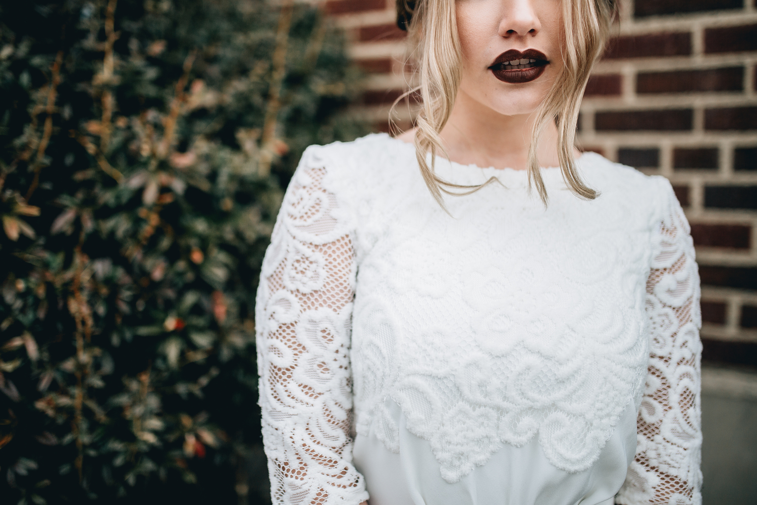 DETAILS  Styling by: Lucy Bergstrom  Photography by: Alice Cannon  Dress by: Aleksandra Salo  Makeup by: Rachel Kae Jenkins  Rentals provided by: Refined Vintage Events  Model: Joan Brown
