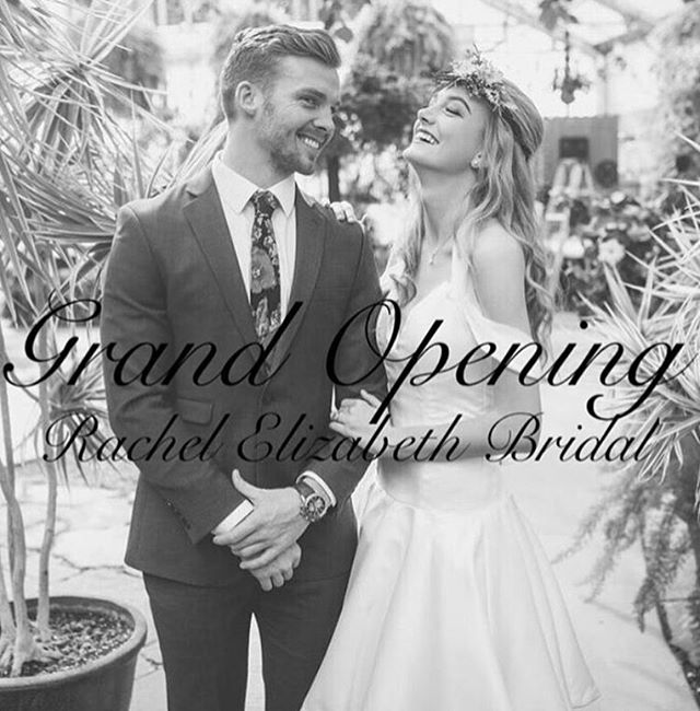 Join us this Thursday, August 4th for the GRAND OPENING of the new Bridal store for @utahfashionweek designer @rachelelizabethbridal!  The event is from 5-8:30pm that night at the new store located at 472 E 180 S in American Fork, UT.  We are excited to see you there!  #Utahfashionweek #Utahfashioninsider #shoplocal #utahdesigner