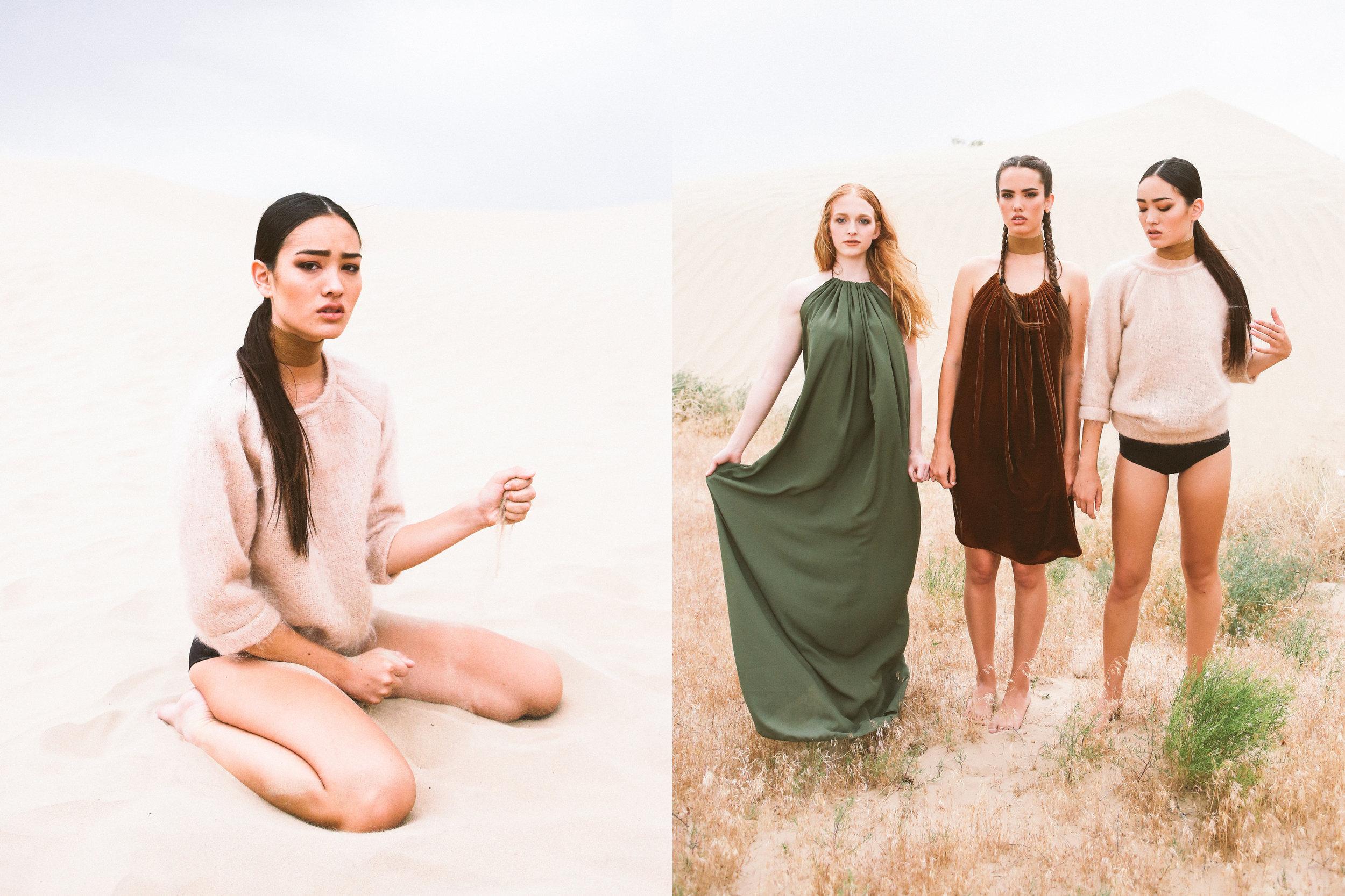 DETAILS  Photography: Evelyn Eslava  Makeup: Chelsea Vuksinick  Wardrobe: Melody Noy  Models (left to right): Elizabeth Wood , Tiffany Pliler ,Camille Nicole Styling by: Megan Beckham