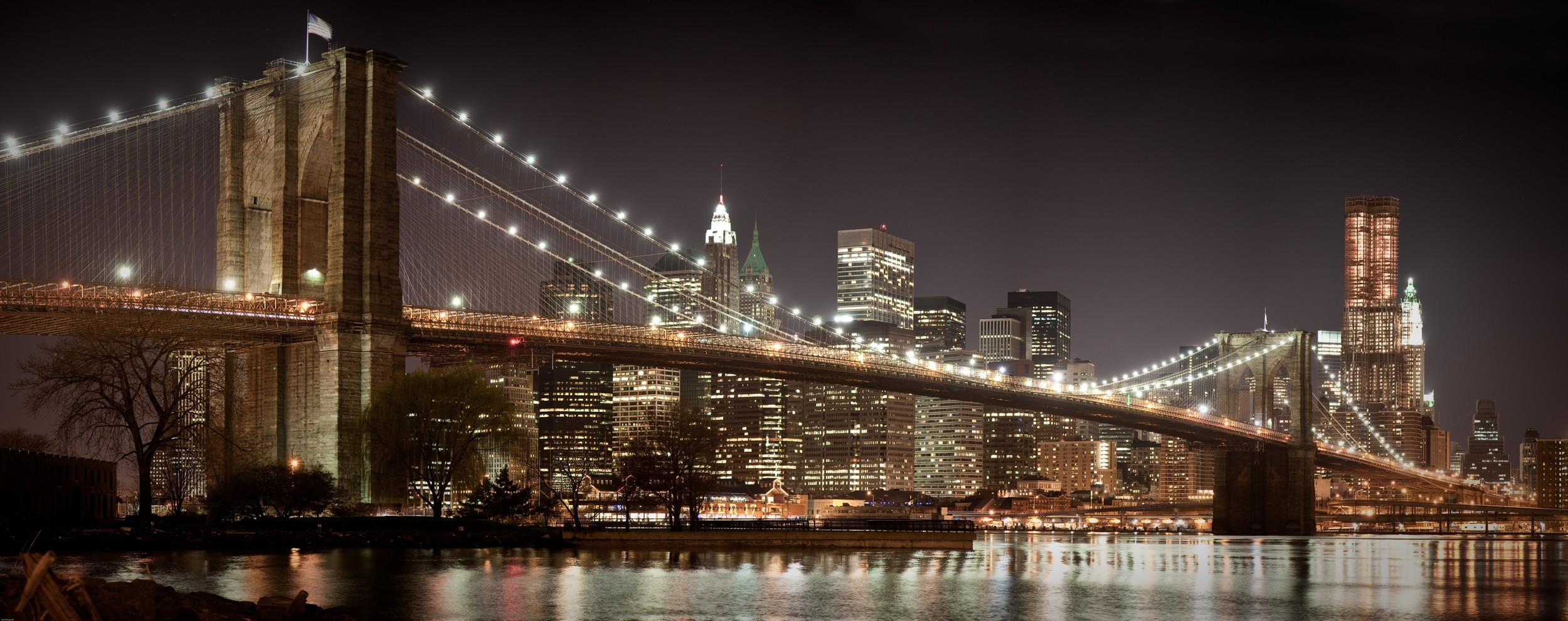 Brooklyn Bridge and Downtown