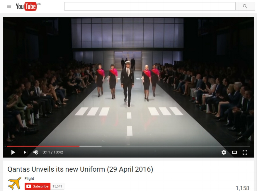 Live Stream Rogues Gallery Qantas Unveils its new uniform