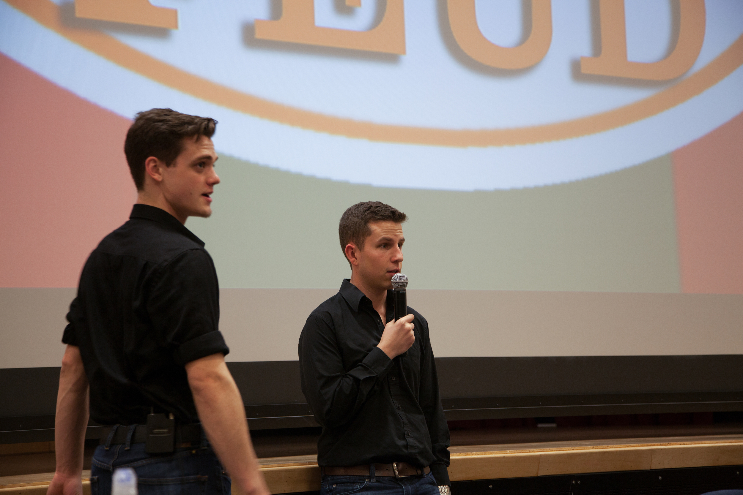 Brothers Dan Gora and Teylor Wade prepare to co host our first ever Fraternal Feud Competition.
