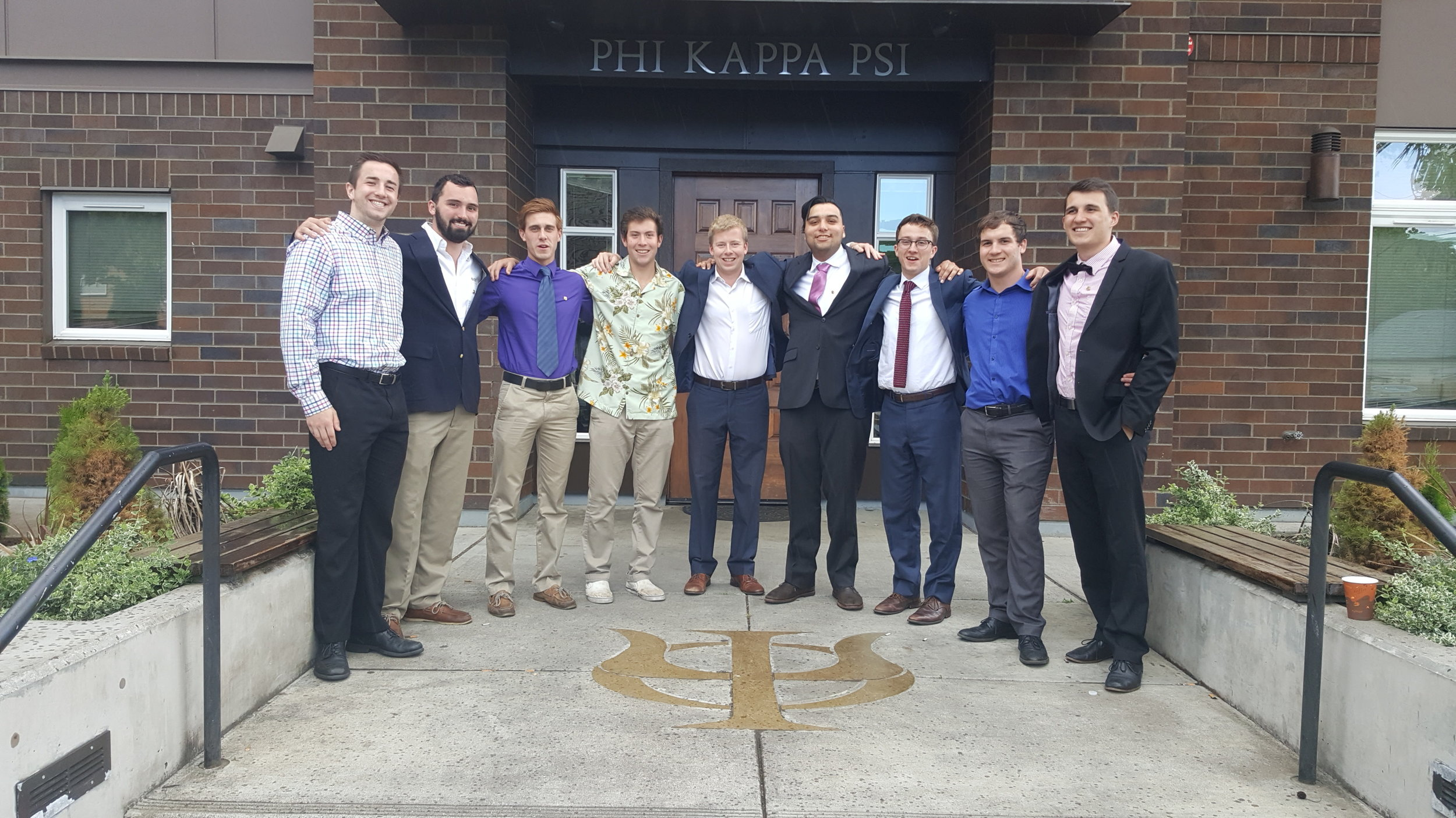 These 9 brothers graduated in June of 2017, recently becoming alumni of the Oregon Beta chapter of Phi Kappa Psi