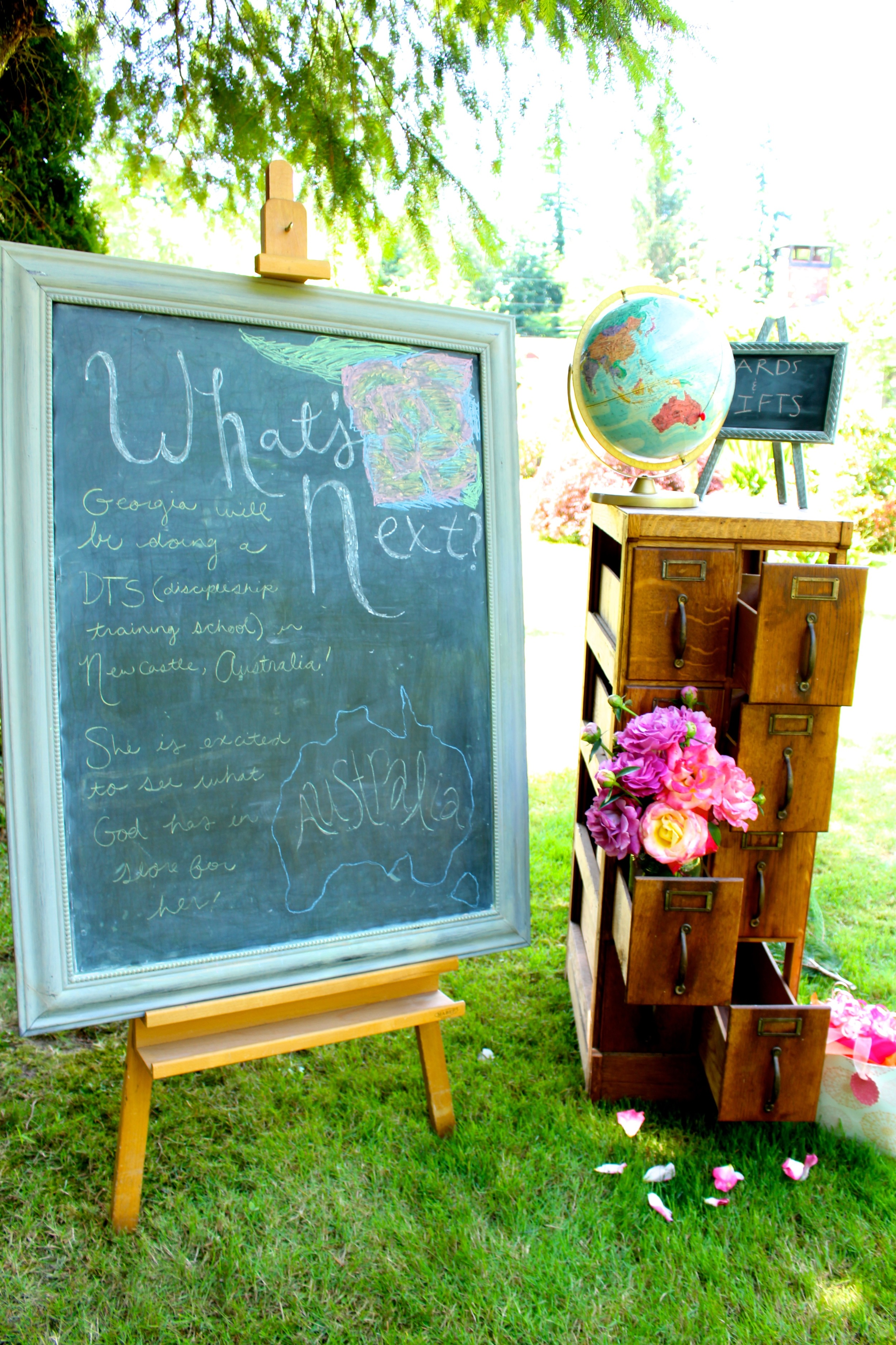 What's Next Chalkboard Travel Theme Graduation Party Decor II www.ciderpresslane.com