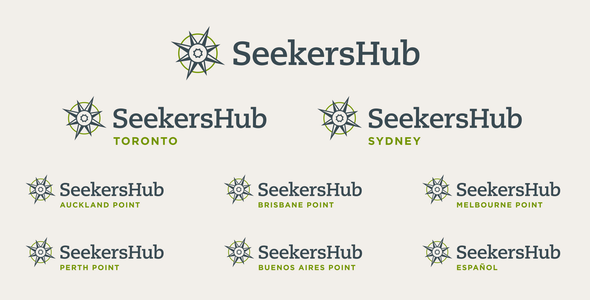 Alternative lockups for layouts better suited to a left-aligned logo.