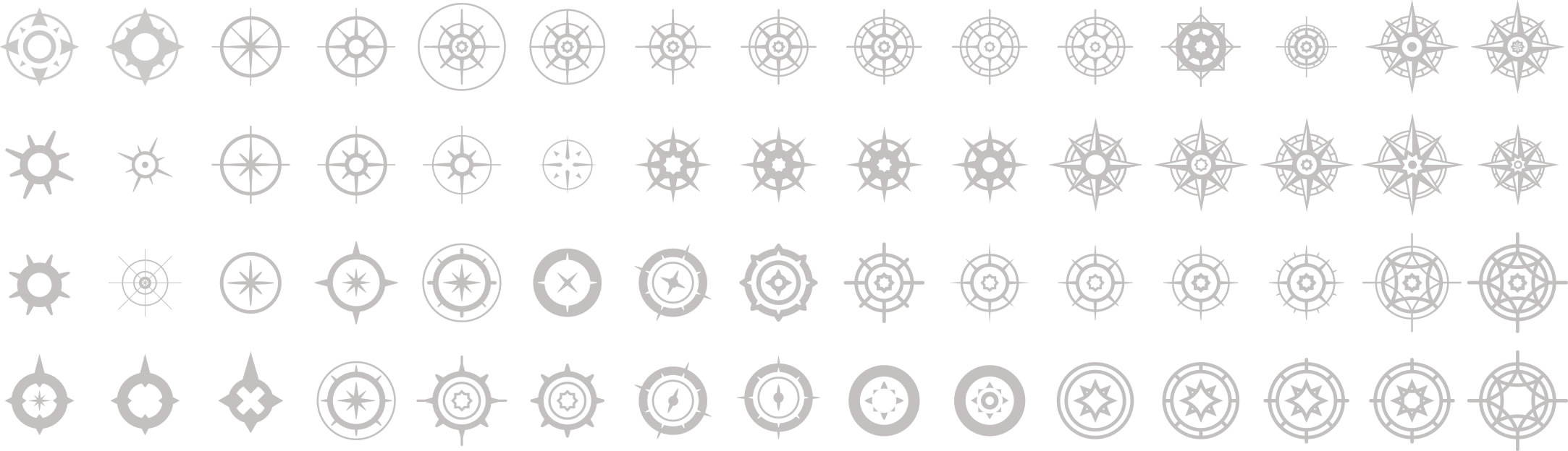 An exploration of compass styles.