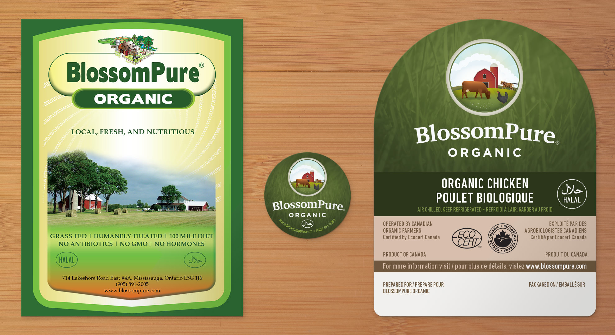 Previous label, and sample of new labels.