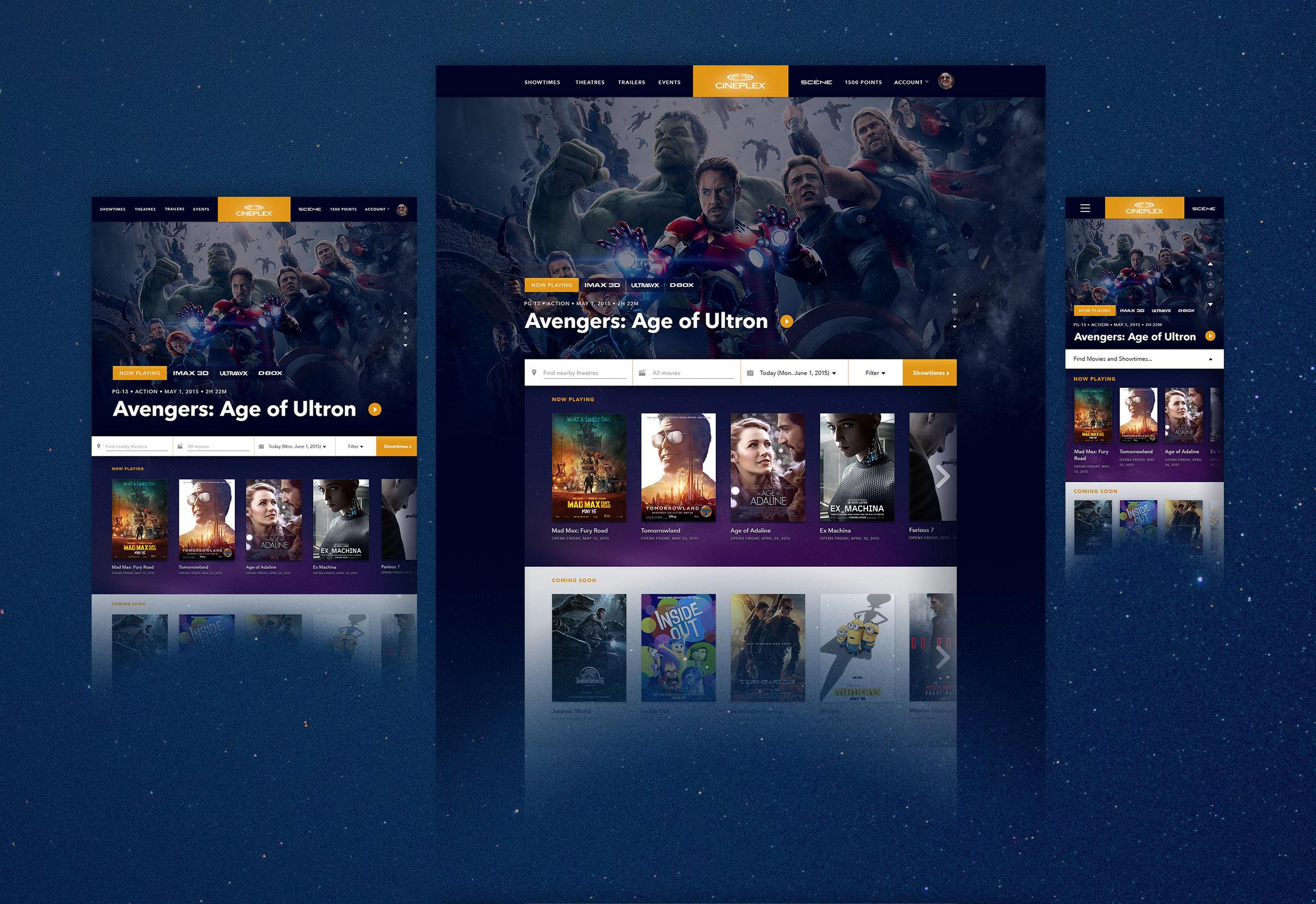 A self-initiated conceptual redesign for Cineplex.