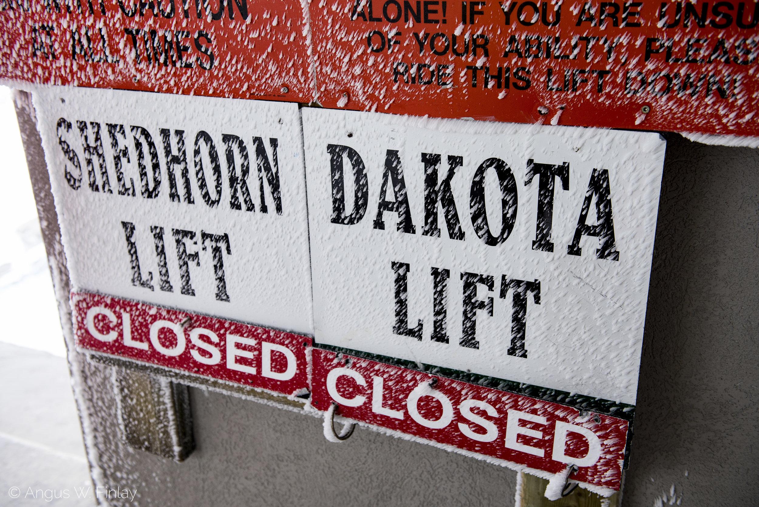 Lift's Closed